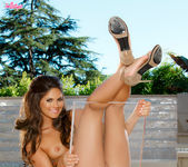 Aspen Rae Spreads Her Tight Pussy Lips Beside The Pool 7