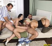 Abbie Cat & Candy Love - Europe Orgy - Euro Sex Parties 6