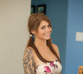 Cute teen babe Hailey Leigh flaunts her perky breasts 2