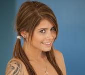 Cute teen babe Hailey Leigh flaunts her perky breasts 6