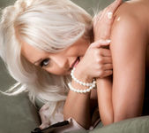 Natasha Voya On Her Knees Fingering Herself From Behind 8