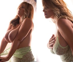 Rockell Starbux Plays With Her Big Breasts