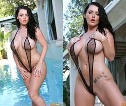 Sophie Dee - Sexy Black Fishnet Sling