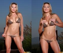 Brea Lynn - Leopard Print Thong Bikini