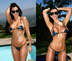 Laura Lee - Transparent Blue Latex Bikini