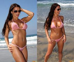 Rebecca Rayann - Pink G-string Beach Bunny