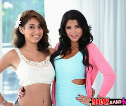 Bianka & Sarai - The Blow Show - Moms Bang Teens