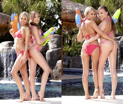 Aubrey Star, Kendall Kayden Play With Their Pussies