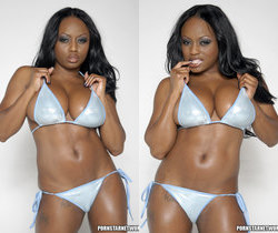 Smokin' Hot Ebony Beauty Jada Fire Lubes Up Her Big Tits