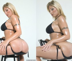 Velicity Von Oils Up And Shows Off Her Assets