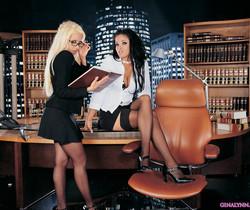 Gina Lynn and Lanny Barbie