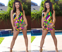 Eva Angelina - 70's Style Dress