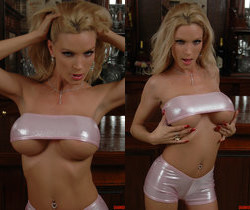 Diamond Foxxx Spotlights Her Big Breasts with a Tease