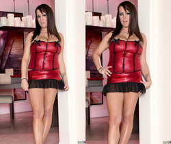 Brandy Talore Stripping and Forced to Tease Herself