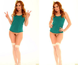 Lexi Belle Strips Down to her Pantyhose