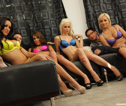 Breanne Benson and Friends Wow the Guys with Group Sex
