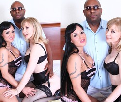 Mahina Zaltana and Nina Hartley - Interracial Threesome