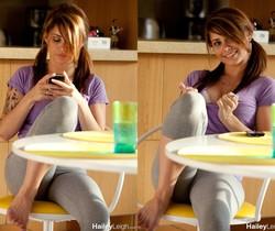 Hailey Leigh - Purple Shirt