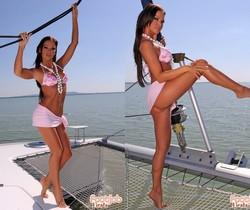 Christina Bella - Christina and Evan sailing off to heaven