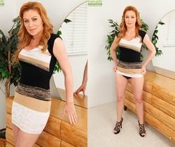 Sasha Sean busty milf shows her underwear and gets naked