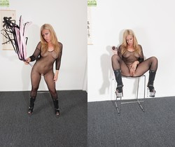 Stevie Lix - bodystocking milf with a whip