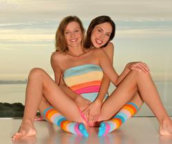 Guinevere & Carli Banks - Stripes
