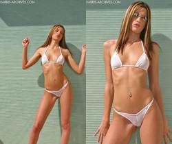 Naudia - White Bikini