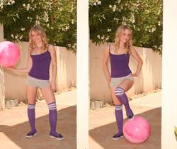 Kara outdoors gets too playful peels off her undies