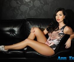 Ann Denise teasing in her animal print bodysuit on the