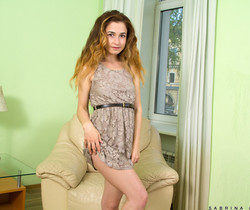 Sabrina Little - tiny teen getting nude