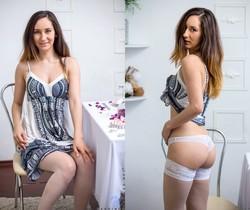 Sabrine - stockings & pussy
