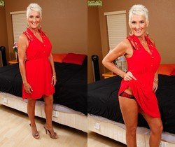 Lexy Cougar - short haired mature getting naked