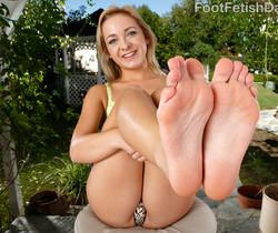 Cleo Vixen Wraps Her Sexy Feet Around a Hard Cock