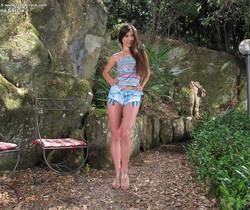 Lorena Garcia outdoors dildo