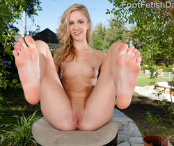 Rachel James Exposes Her Feet and Gets a Cock-Filled Pussy