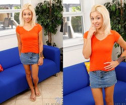 Ivy Stone - thin teen blonde spreading her legs