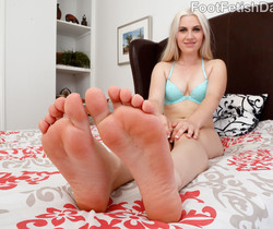 Niki Snow Strokes Cock with Her Cute Toes