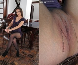 Anina Silk - Pantyhose and a ribbed vibrator