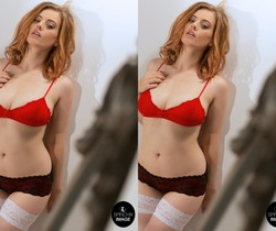 Lottii Rose - Red Bra - Spinchix