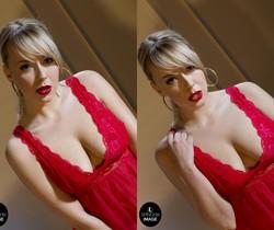 Millie's soft Red lips and Red nightie - Spinchix