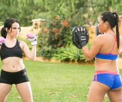 Megan Rain, Adrianna Luna - Martial Arts Accident