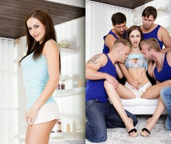 Tina Kay, Paul Fresh - 4 on 1 Gang Bangs #07