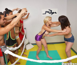 Amy Parks - Oil Wrestle - Dare Dorm