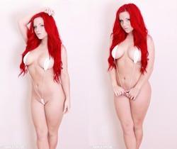 Harley teases and strips in her sling bikini!