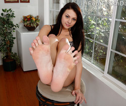 Megan Sage Pretty Feet Around Hard Cock