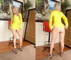 Alana Luv - blonde milf shows her body