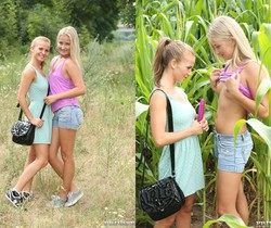 Fucking in The Woods With Lesbians Bella Baby & Cayla Lyons