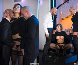 Perky Tit Anna Polina Gets Some Rough DP - Private