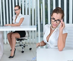 Satin Bloom - Office Masturbation