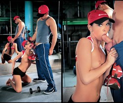 The Gym Athlete Who Loves Her Coach's Cock